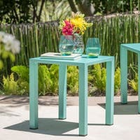 Windsor Outdoor 16-inch Square Aluminum Side Table by Christopher Knight Home