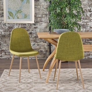 Raina Mid-Century Modern Fabric Dining Chair (Set of 2) by Christopher Knight Home