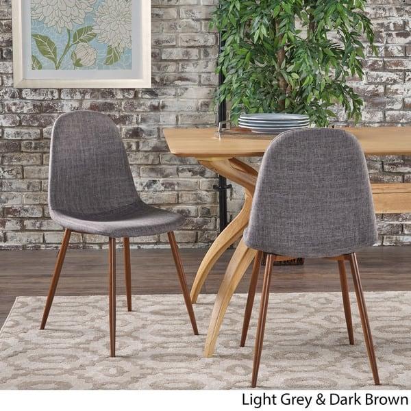 Raina Mid Century Modern Fabric Dining Chair Set Of 2