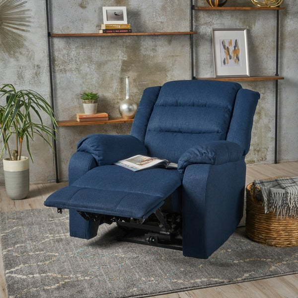 Adrianne Fabric Power Recliner Club Chair by Christopher Knight Home. Opens flyout.