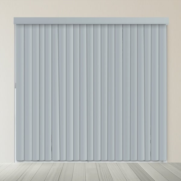 """Chicology Slate Gray Cordless Variable Light Control Vertical Blinds - 78""""w x 84""""h"""