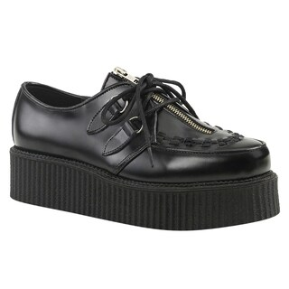 Demonia CREEPER-440 Women's Lace Up Front Zip Platform Wedge Creeper