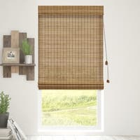 Chicology Squirrel Bamboo Woven Wood Privacy Roman Shades