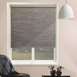 Chicology Lattice Marble Continuous Loop Beaded Chain Natural Woven Privacy Roller Shades