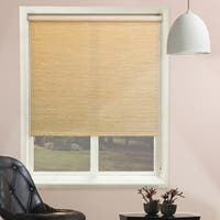 Chicology Lattice Cream Beaded-Chain Natural Woven Privacy Roller Shades