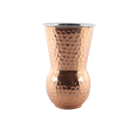 Inox Highball Double Lined Hammered Copper Tumbler
