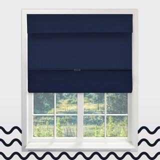 Chicology Sailor's Navy Cordless Magnetic Thermal Room Darkening Roman Shades