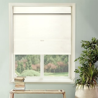 Chicology Cordless Magnetic Roman Shades / Window Blind Fabric Curtain Drape, Thermal, Light Filtering - Mountain Snow