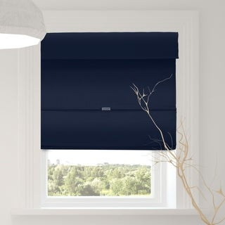 Chicology Commodore Blue Cordless Magnetic Room Darkening Roman Shades