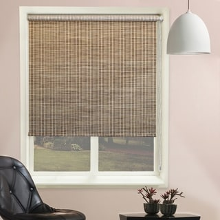 Chicology Lattice Honeybee Continuous Loop Beaded Chain Natural Woven Privacy Roller Shades