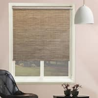 Chicology Lattice Honeybee Beaded-Chain Natural Woven Privacy Roller Shades