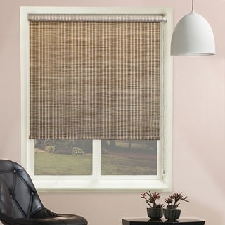 Chicology Lattice Honeybee Beaded-Chain Natural Woven Privacy Roller Shades (More options available)