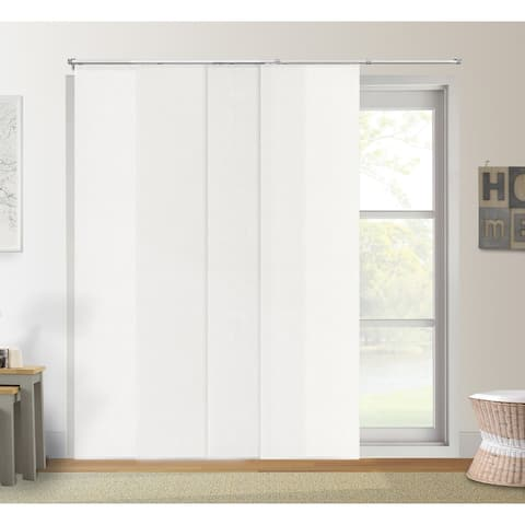"""Chicology Daily White Adjustable Cut to Length Light Filtering Privacy Sliding Panels - Up to 80""""W x 96""""H"""
