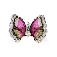 La Vita Vital 14K Rose Gold Tourmaline 3.50TGW & Diamond 0.17cts Ring