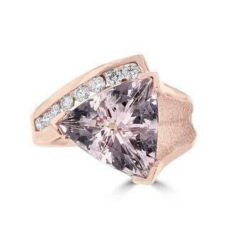 La Vita Vital 14K Rose Gold, Morganite 4.10TGW and Diamond 0.30ct Ring