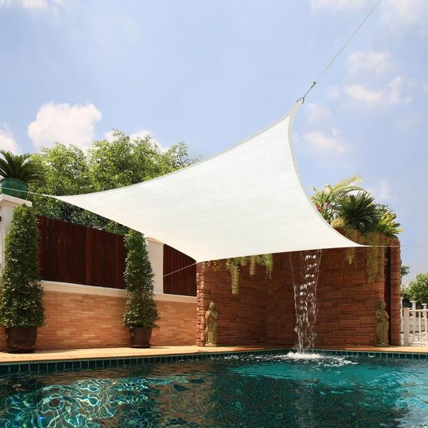 medium square sail extraheavy fabric sun shade free shipping today