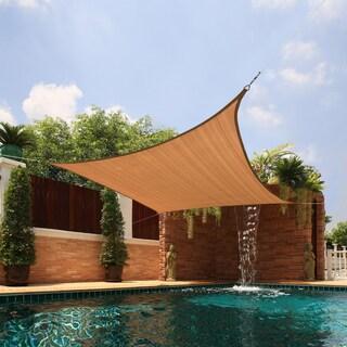 Medium Square Sail Extra-heavy Fabric Sun Shade (Option: Beige)