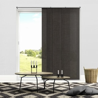 "Chicology Nautical Grey Adjustable Cut to Length Light Filtering Privacy Sliding Panels - 80""w x 96""h"