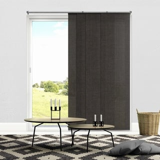 Chicology Adjustable Sliding Panels / Cut to Length, Curtain Drape Vertical Blind, Light Filtering, Privacy - Nautical Grey