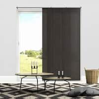 """Chicology Nautical Grey Adjustable Cut-to-length Light Filtering Privacy Sliding Panels - up to 80""""w x 96""""h"""