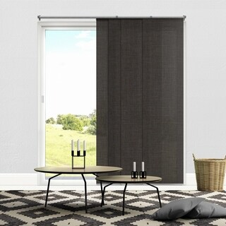 "Chicology Nautical Grey Adjustable Cut to Length Light Filtering Privacy Sliding Panels - up to 80""w x 96""h"