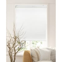 Chicology Felton White Snap-N'-Glide Cordless Natural Woven Privacy Roller Shades
