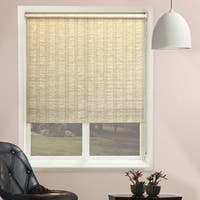Chicology Florence Sand Continuous Loop Beaded Chain Natural Woven Privacy Roller Shades