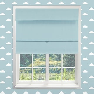 Chicology Baby Blue Cordless Magnetic Room Darkening Thermal Roman Shades