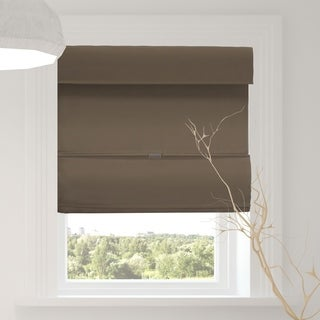 Chicology Grounded Brown Cordless Magnetic Room Darkening Roman Shades