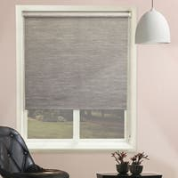 Chicology Candyfloss Coal Beaded-Chain Natural Woven Privacy Roller Shades