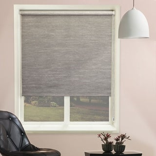 Chicology Candyfloss Coal Continuous Loop Beaded Chain Natural Woven Privacy Roller Shades