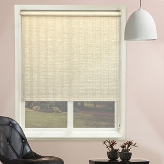 Chicology Florence Maize Continuous Loop Beaded Chain Natural Woven Privacy Roller Shades