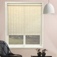 Chicology Florence Maize Beaded-Chain Natural Woven Privacy Roller Shades