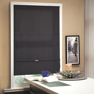 Chicology Allure Granite Cordless Magnetic Light Filtering Roman Shades