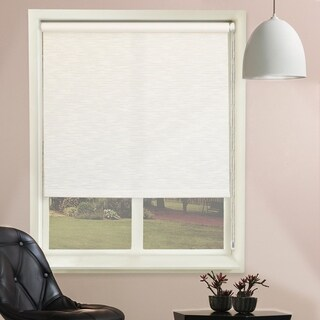 Chicology Candyfloss Vanilla Beaded-Chain Natural Woven Privacy Roller Shades