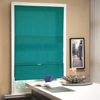 Chicology Allure Ultramarine Cordless Magnetic Light Filtering Privacy Roman Shades