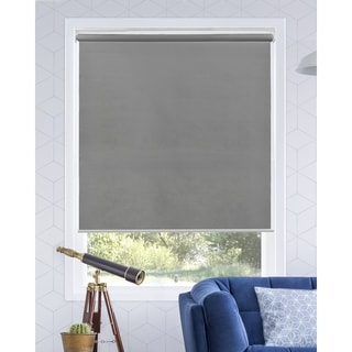 Chicology Urban Grey Snap-N'-Glide Cordless Light Filtering Privacy Roller Shades