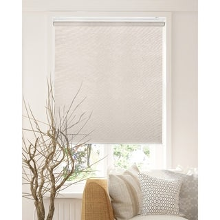 Chicology Felton Sand Snap-N'-Glide Cordless Natural Woven Privacy Roller Shades