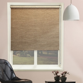 Chicology Candyfloss Latte Continuous Loop Beaded Chain Natural Woven Privacy Roller Shades