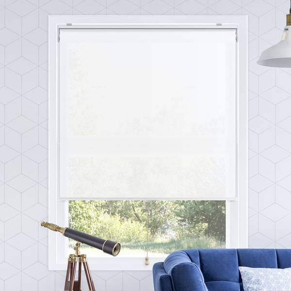 Chicology Urban White Snap-N'-Glide Cordless Light Filtering Prviacy Roller Shades