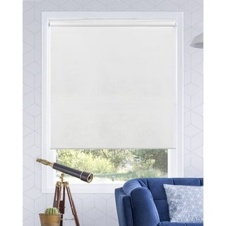 Chicology Urban White Snap-N'-Glide Cordless Light Filtering Privacy Roller Shades