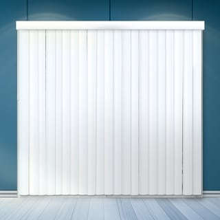 """Chicology Cascading White Cordless Variable Light Control Vertical Blinds - 78""""w x 84""""h"""