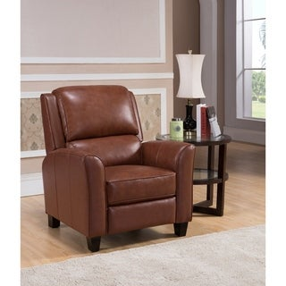 Hydeline by Amax Encore Top Grain Leather Recliner  sc 1 st  Overstock.com & Lenox Red Premium Top Grain Leather Recliner Chair - Free Shipping ... islam-shia.org