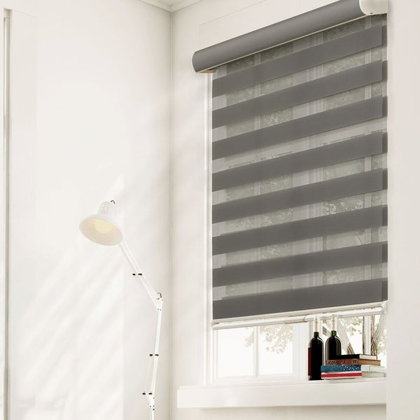 Chicology Striped Granite Free-Stop Cordless Zebra Roller Shades