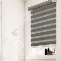 Chicology Striped Granite Free-Stop Cordless Sheer or Privacy Zebra Roller Shades