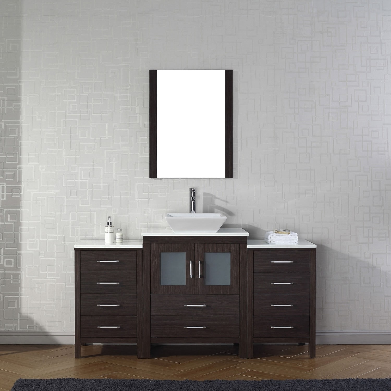 Virtu USA Dior 64-inch Single Bathroom Vanity Set with Faucet ...