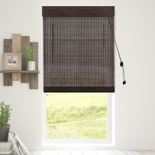 Chicology Treehouse Bamboo Woven Wood Privacy Roman Shades