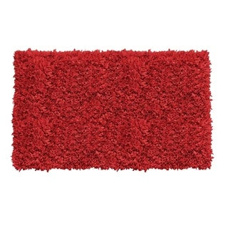 Jersey Shaggy 5'X8' Red Area Rug