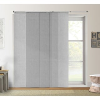 "Chicology Daily Grey Adjustable Cut-to-Length Light Filtering Privacy Sliding Panels - up to 80""w x 96""h"