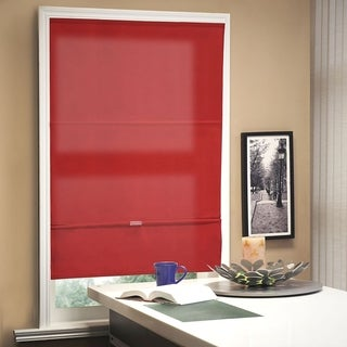 Chicology Allure Crimson Cordless Magnetic Light Filtering Privacy Roman Shades